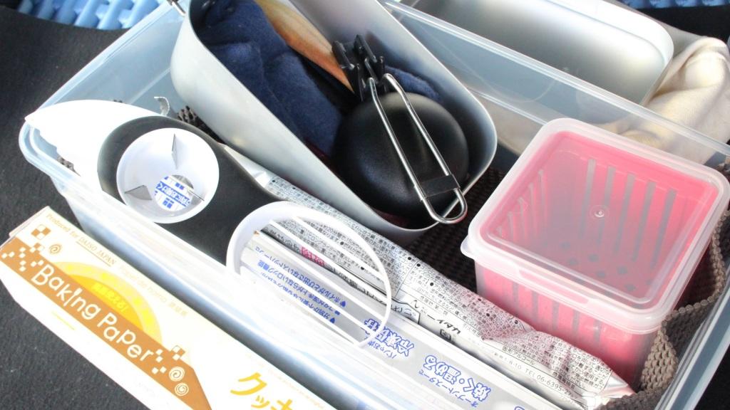 車中泊の道具