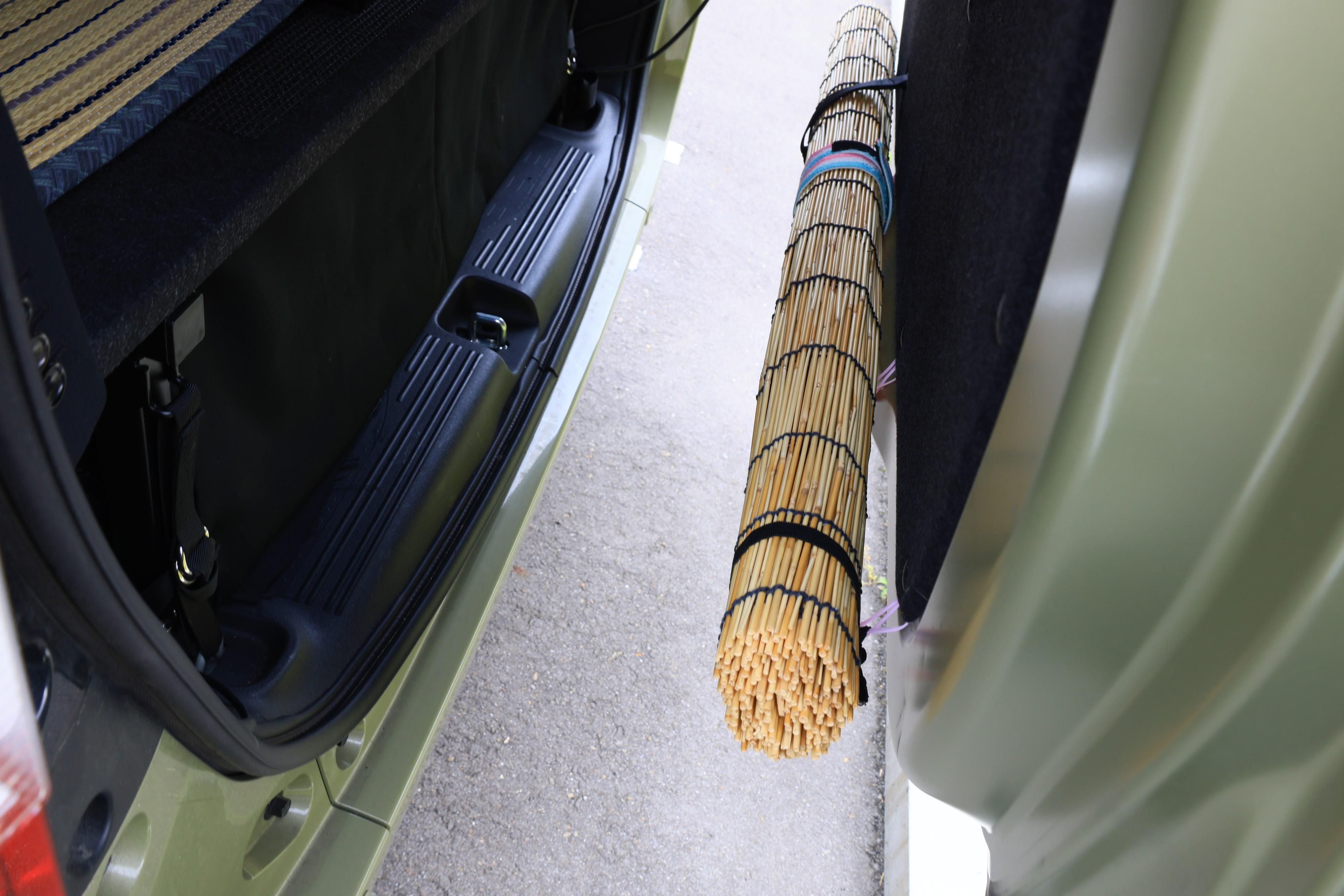 車中泊装備品の収納方法
