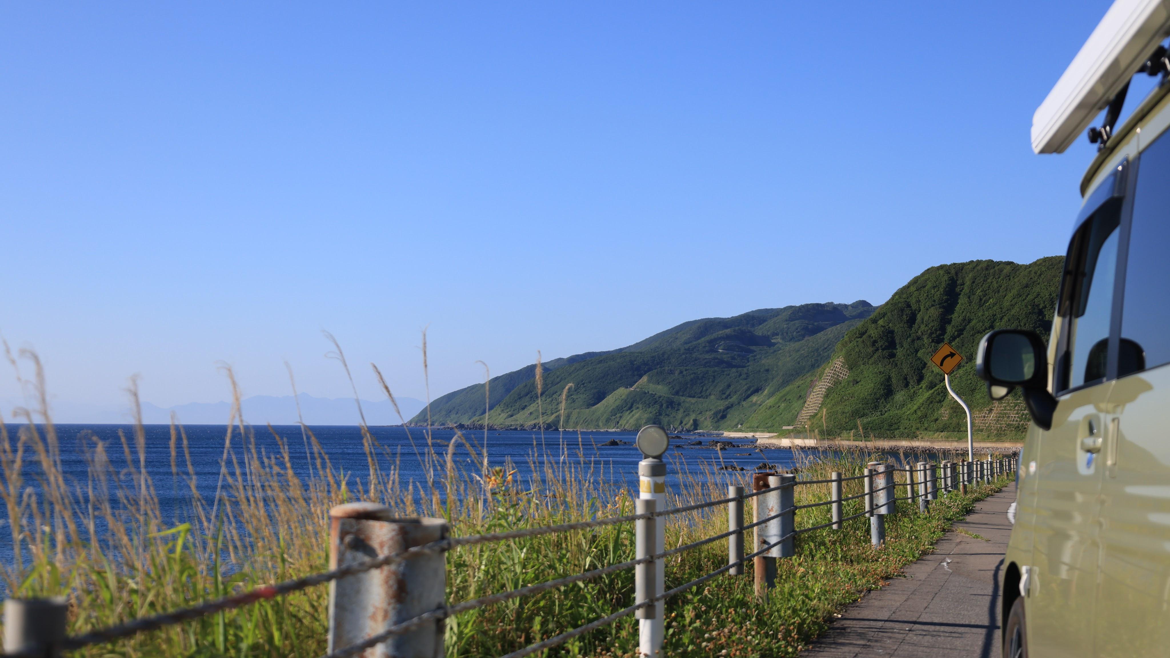 竜泊ラインと日本海