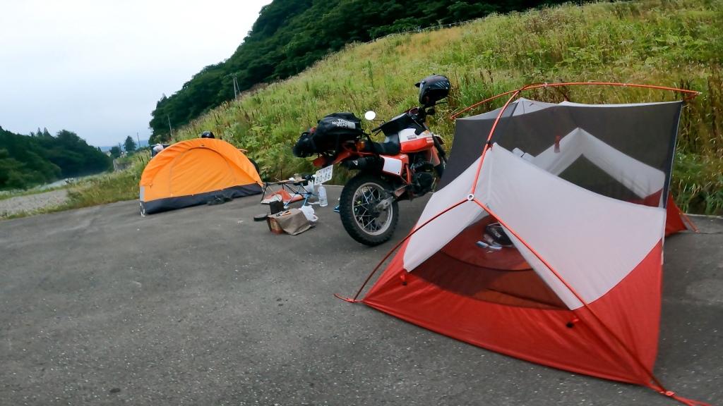 テント泊で野宿
