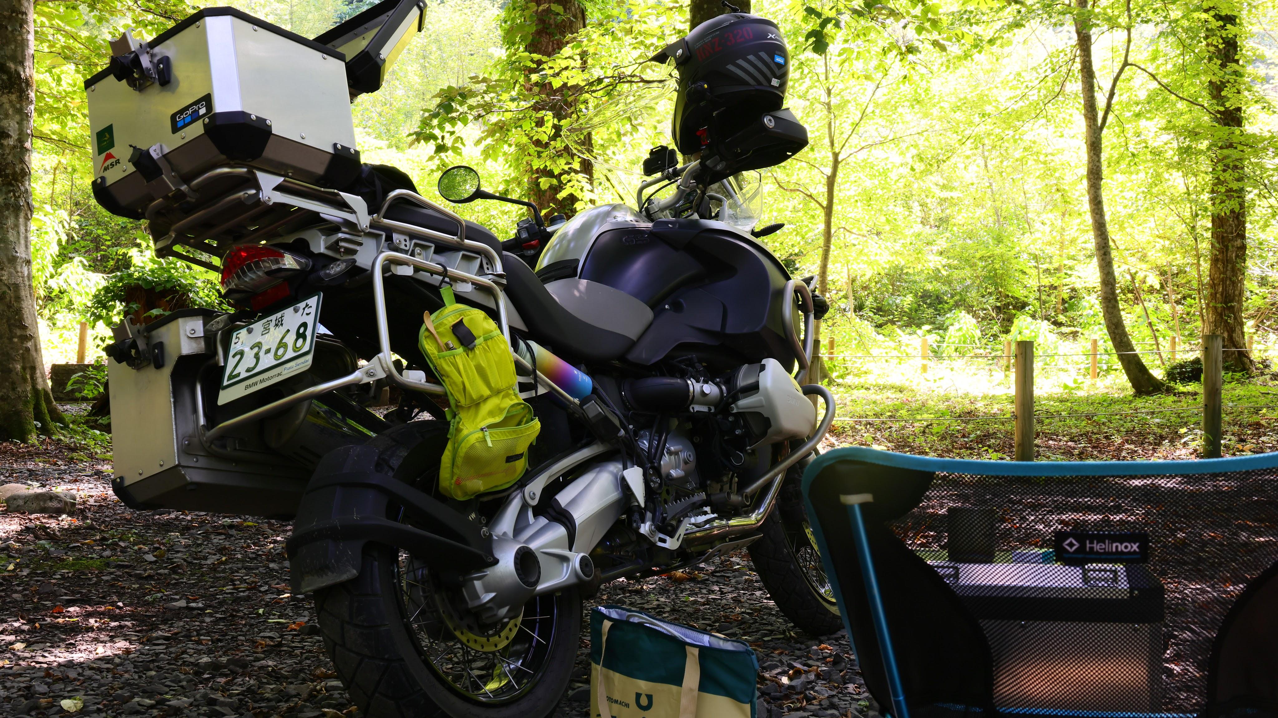 バイク乗り入れ可のキャンプ場